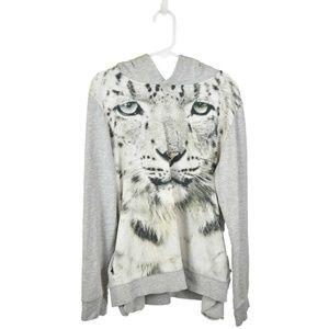 H&M Gray Tiger Printed Hoodie
